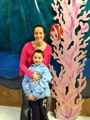 Megan Rivenbark was event chairperson for the Readington HSA Winterfest; she is pictured with her first-grade son, Owen Rivenbark.