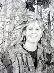 """Wildthing,"" graphite drawing by Marty Gerber, part of the seventh annual Door Prize for Portraiture exhibit at the Miller Art Museum."