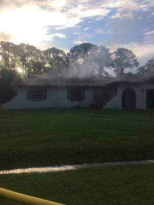The single occupant of a Cocoa home that caught on fire is safe.