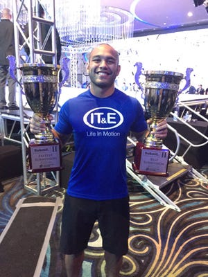 "Frank ""The Crank"" Camacho took home both the best submission of the night and fastest submission of the night trophies on Friday during Submit. II at Dusit Thani Guam Resort in Tumon."