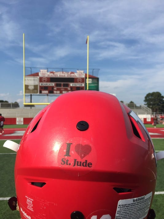 St. Jude helmet sticker