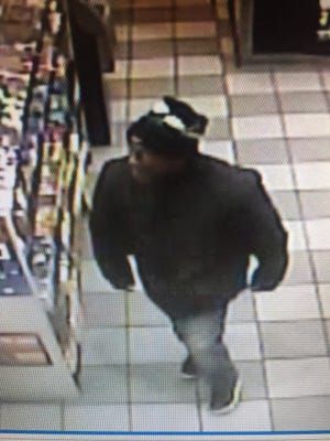 The Salisbury Police Department is looking for this suspect in the robbery of the Tiger Mart on Autumn Grove Court on Saturday, Dec. 10.