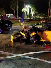 A three-vehicle crash on U.S. 1 near Britt Road sent four people to the hospital and closed northbound U.S. 1 in Jensen Beach on Tuesday, Dec. 20, 2016.