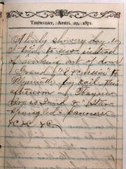 A scan of the diary Dan Sabo writes about.