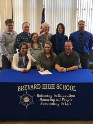 Brevard senior Hannah Jenkins has signed to play volleyball for Brevard College.