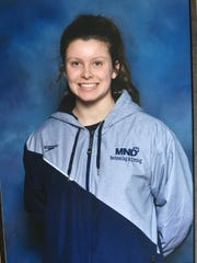 MND diver Teagan Moravek qualified for the Division I state diving meet