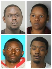 Clockwise, from top left: Ardarius Cato, Victorian West, Brandon D. H. White and Marteze D. Waples