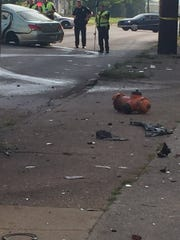 The scene of a fatal crash on May 16, 2017, in the Algonquin neighborhood.