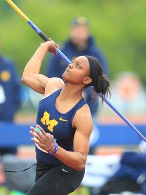 Farmington graduate Aaron Howell's javelin throw was key in winning Big Ten heptathlon championship for the University of Michigan.