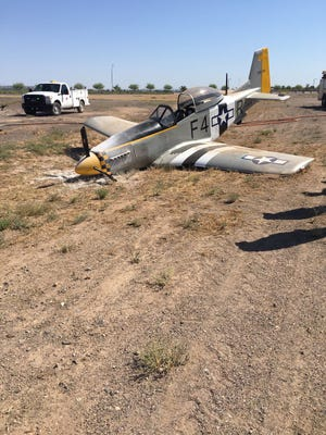 A small experimental plane crashed at the Goodyear Airport during landing, according to the Goodyear Fire Department. No one was injured.