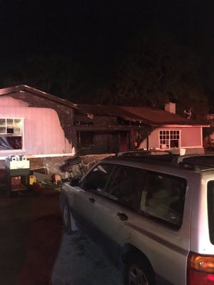 Fire at a home in Brevard County June 21, 2017.