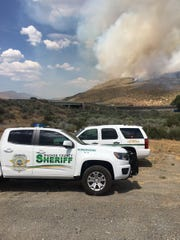 The Washoe County Sheriff's Office is assisting with evacuations from a wild fire that started in Cold Springs
