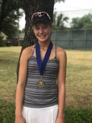 Kate Wurster, an eighth-grader at Christ Academy in Wichita Falls, won the USTA Major Zone tournament recently, winning first in the Girls 16s division.