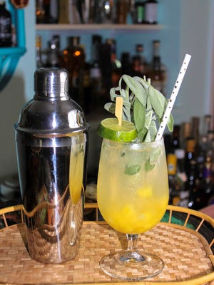 For a twist on the classic mojito, try this version with sage and pineapple.