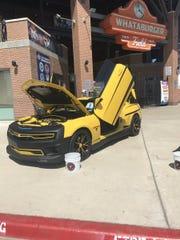Car show at whataburger field @CallerVivaCC @CallerSports #VivaCC