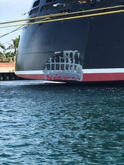 The portion of the Disney Dream damaged.