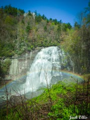 """""""Rainbow Falls lives up to its name on a sunny day"""