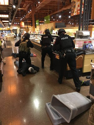 Greece Police Department, participated in an active shooterjoint-training session at Mt. Read Blvd. Wegmans Oct. 25, 2017