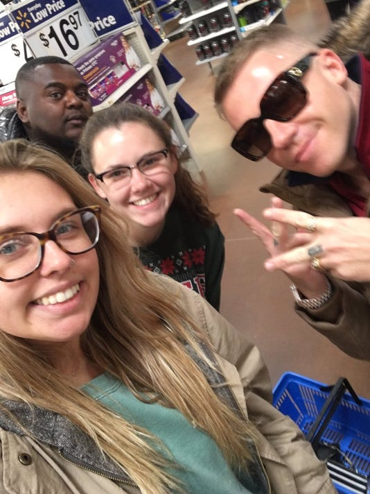 macklemore hangs out at vermillion walmart before concert