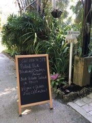 The cafe is open at McKee Botanical Garden. Sealantro