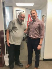 Derek Pipkorn meets Mathnasium founder Larry Martinek.