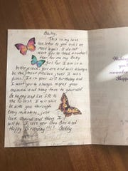 A letter Bailey Sellers posted from her late father,