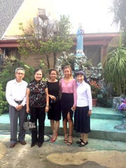 Sr. Uyen with her family (From left to right Viet Vu, her dad; Phuong Le, her mom; Huong Vu, her sister, Vivian Nguyen, her niece)