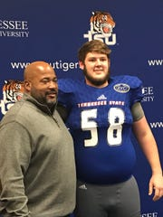 Tennessee State offensive tackle signee Noah Shattuck