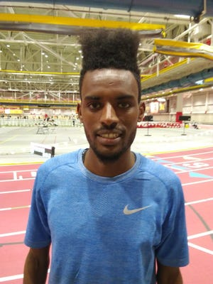 Biya Simbassa, at the ISU Classic on Feb. 9 in Ames.
