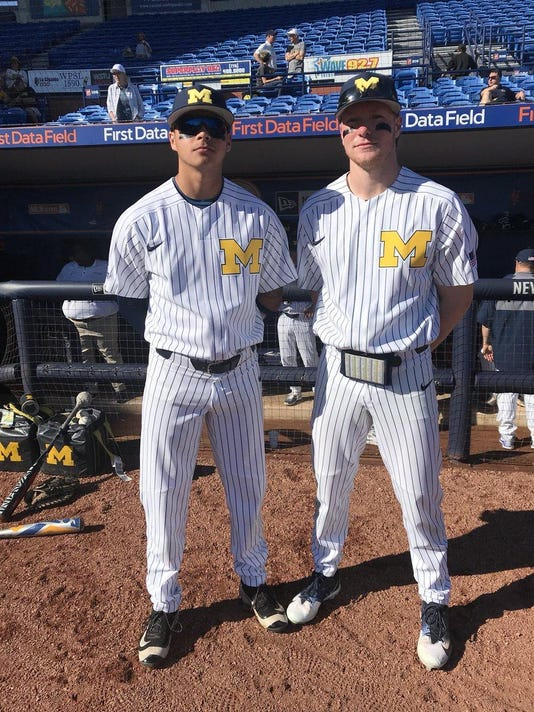 d2aaadec808 College notes: Nike outfits UM baseball in pinstripes