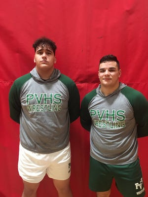 Passaic Valley senior captains Yousef Karmi (left) and Tom Marretta qualified for the state championships at Boardwalk Hall.