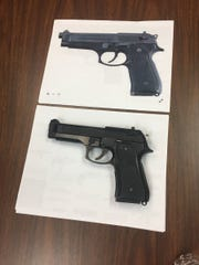 The airsoft gun Douglas Kemp reportedly had in his hand under a picture of a real Beretta.