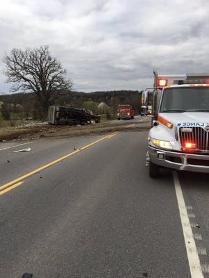 One person is dead after a dump truck and a car collided in Wilson County on March 7, 2018.