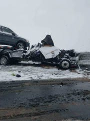A crash near exit 286 on the Pennsylvania Turnpike