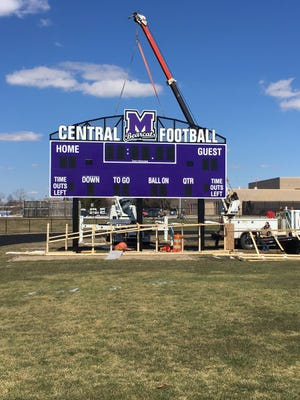 Central's new football scoreboard