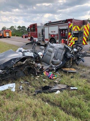 Palm Bay Fire Rescue extricated a patient after a crash on Interstate 95. The patient was then transported by First Flight to a local hospital.