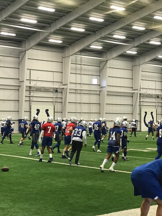 Andrew Luck at practice