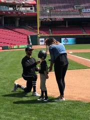 Lakota East pitching coach Tyler Young proposes to