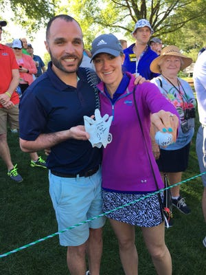 Sean Powell and Andrea Cota got engaged on Wednesday with help from Justin Thomas.