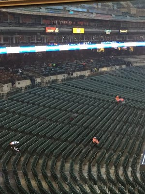 Detroit Tigers vs. Seattle Mariners game is delayed.