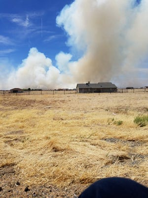 Wildfire burning near Prescott Valley on May 11, 2018.