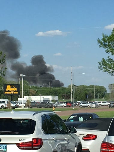 A-OX Welding Supply Company fire in Sioux Falls.