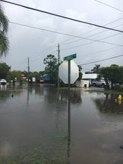 Mapp Road and Sunset Trail in Palm City are flooded May 21, 2018.