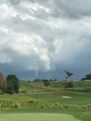 A tornado was spotted near otter creek. Twitter user @HaleyUrness posted this from Otter Creek Gold Course.