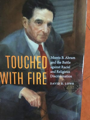 Cover of book about Morris B. Abram, by David E. Lowe.