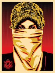 "Shepard Fairey's portrait of an ""Occupy"" protester will be among works on display in ""Outside In: Art of the Street"" at Middlebury College."