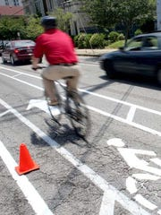 Louisville has been adding bike lanes.