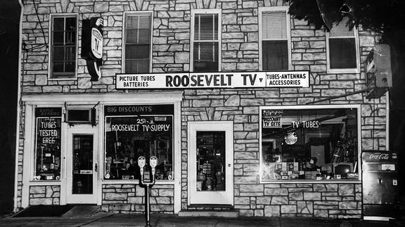 A picture of Roosevelt TV in its heyday. Paul Kuehnel - Daily Record/Sunday News