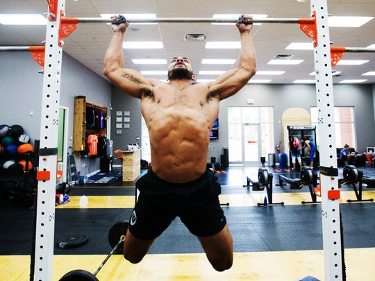 Jeff Evans works out at his gym, Hyte CrossFit in Fort Myers.   He's competing at the CrossFit Southeast Regional in Atlanta this weekened with hopes of making it back to the Crossfit Games.  Evans went to the CrossFit Games two years ago, but missed the cut last year.