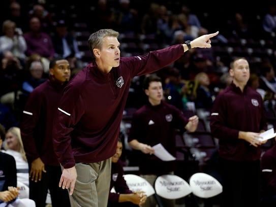 Missouri State Bears coach Paul Lusk leads the Bears